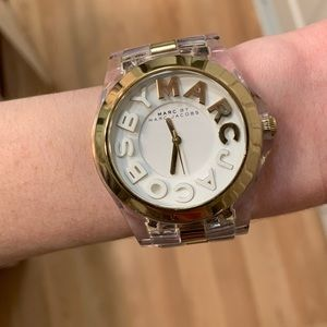 Marc Jacobs Goldplated & Nylon Plastic Watch